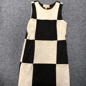 Black and grey block dress